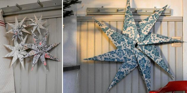 Julpynta: Så viker du en ursnygg pappersstjärna