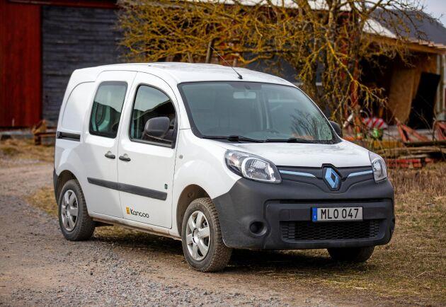 Håkan Carlborgs nya gårdsbil är en Renault Kangoo Z.E 22 kWh 2014 med friköpt batteri.