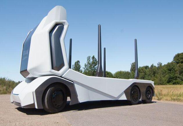 Timmerbilen är utrustad med avancerad teknik som gör att den har 360 graders överblick.