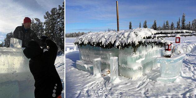 Efter ishotellet – nu finns isbastun i Puoltikasvaara