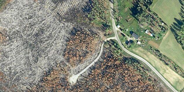Nya flygfoton visar förödelsen efter sommarens skogsbränder