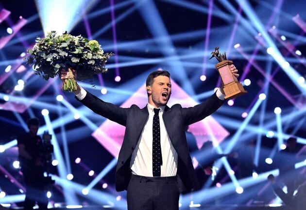 Förra årets vinnare Robin Bengtsson under finalen i Stockholm.