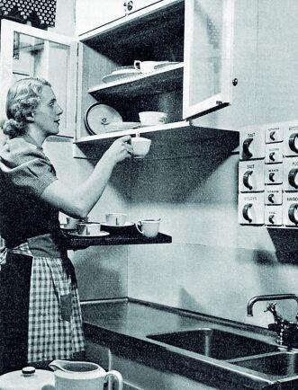 1930-talsköket fick bättre förvaringsmöjligheter.