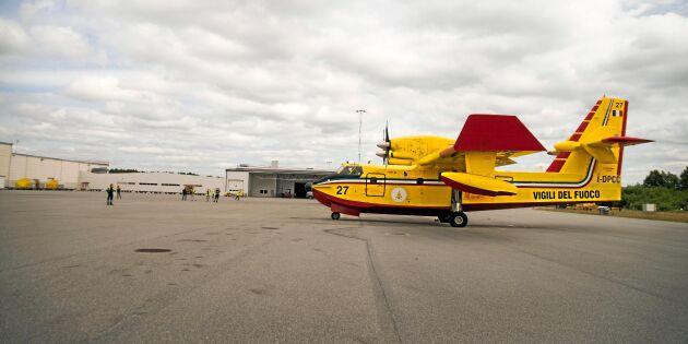 Anses för dyrt med egna brandflygplan