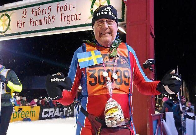 Börje Karlsson är 85 år åker Vasaloppet för 60:e gången.