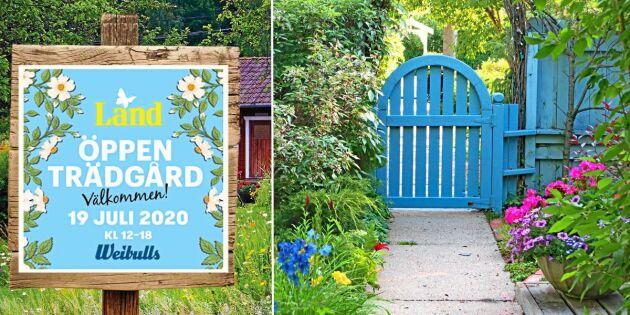 Öppen Trädgård: Välkommen med din anmälan!