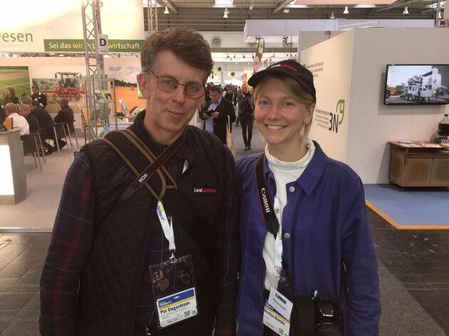 Land Lantbruks reportrar Per Emgardsson och Kristina Hansén delar med sig av sina spaningar från gigantiska Agritechnica.