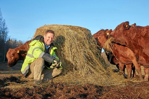 David är utbildad naturbrukare och njuter av att äntligen få leva sitt drömliv som bonde - och driva förskola.