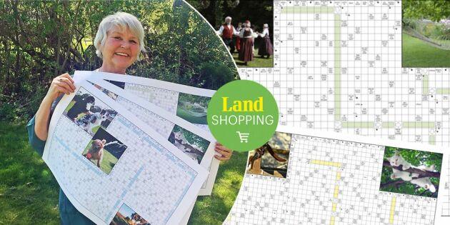 Kryssa med Lands Britt-Marie Bergman – sommarens nya jättekorsord