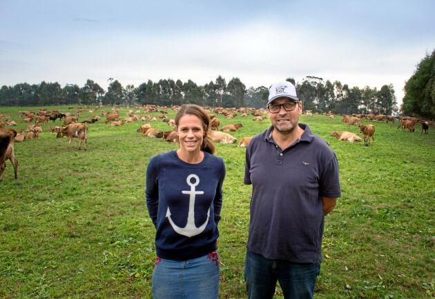 Sallie Jones och Steve Ronalds driver mjölkmärket Gippsland Jersey tillsammans.