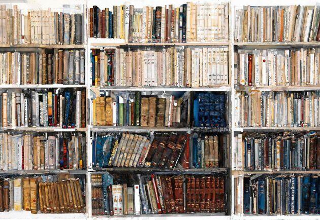 Lars Lerins målning Bibliotek från 2009.