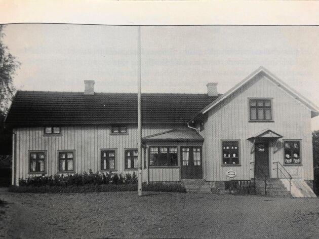 En gammal bild som visar Gällinge lanthandel på 1930-talet.