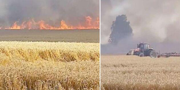 """Brandkåren hindrades av åskådare: """"Blir förbannad"""""""