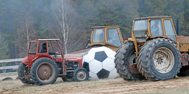Traktorfotboll i Målilla