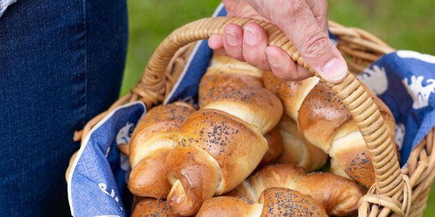 Välfyllda skink- och ostgifflar till utflykten och mellanmålet