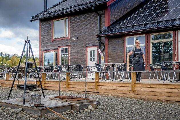 Drömmen har blivit verklighet. Annika Collén har byggt sitt bageri och café på eget skogsskifte.