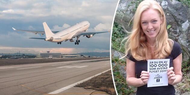 Maja vill få 100 000 att nobba flyget