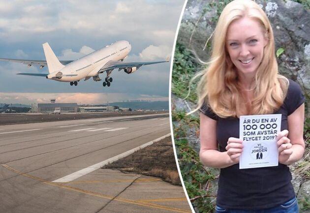 """Kampanjen """"Flygfritt 2019"""" utmanar svenska folket att ta ett kollektivt ansvar för att minska vårt flygande och går ut på att helt avstå från att flyga under 2019 – förutsatt att 100 000 personer lovar att göra samma sak."""