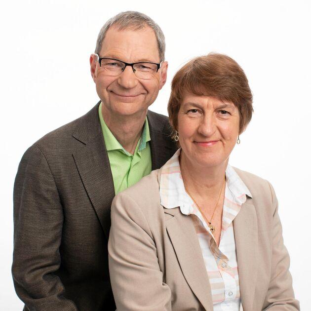 """Bengt Falemo och Elisabet Falemo, författare till boken """"Ledarskap med bondförnuft""""."""