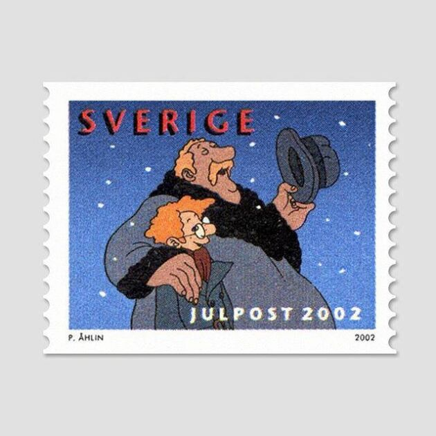 Julfrimärke av Per Åhlin 2002.