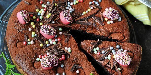 Kladdkaka med chokladägg – riktigt maffig påskdessert