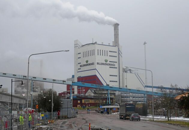 Billerud Korsnäs anläggning i Gruvön.