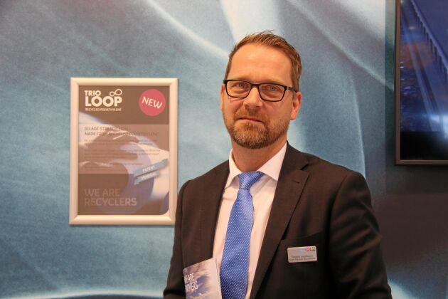 Fredrik Josefsson, säljare på Trioplast, Smålandsstenar.
