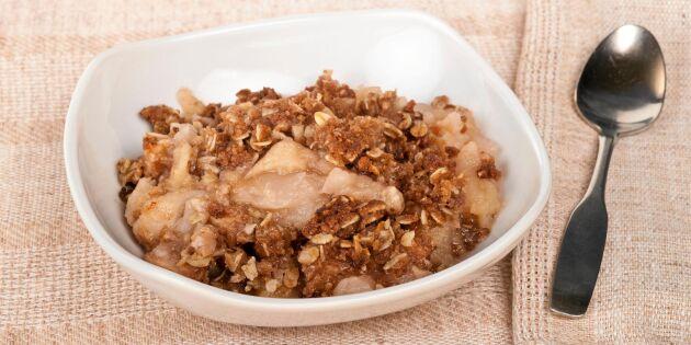 Traditionell skånsk äppelkaka