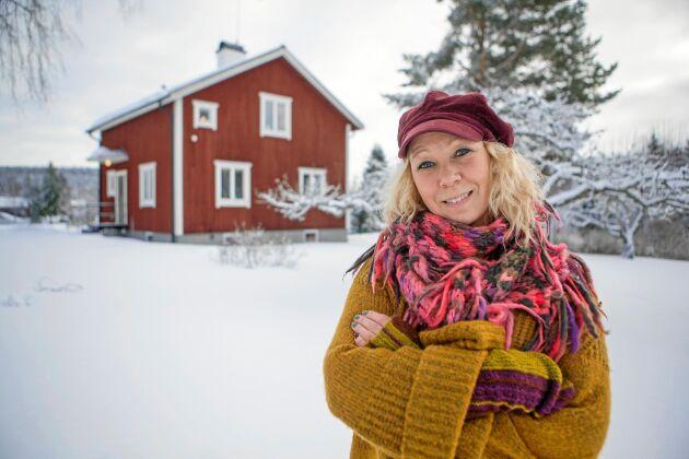 Linda älskar sin farmors gamla torp i Segersta i Hälsingland - och har inrett det i unik retrostil