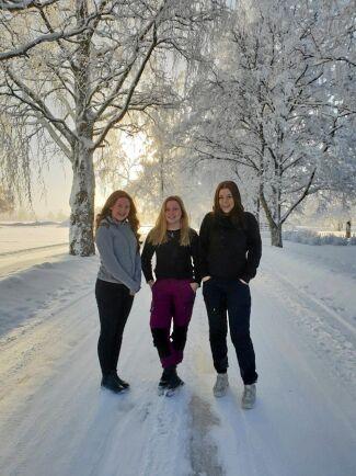 Maja Nordevind, Annie Gradin och Melina Winqvist.