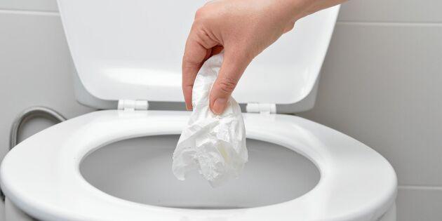 Aja baja! Detta ska du inte slänga i toaletten