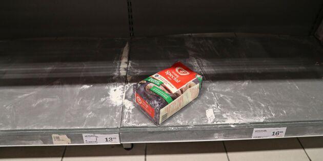 Vetet rusar på börsen efter mjölhamstring