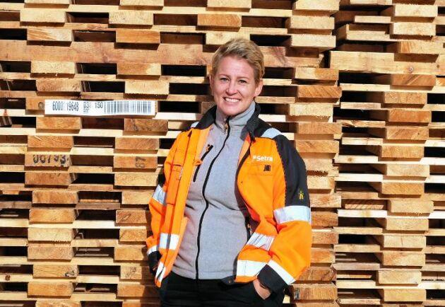 Marlene Bergström, platschef vid Setras sågverk i Malå.