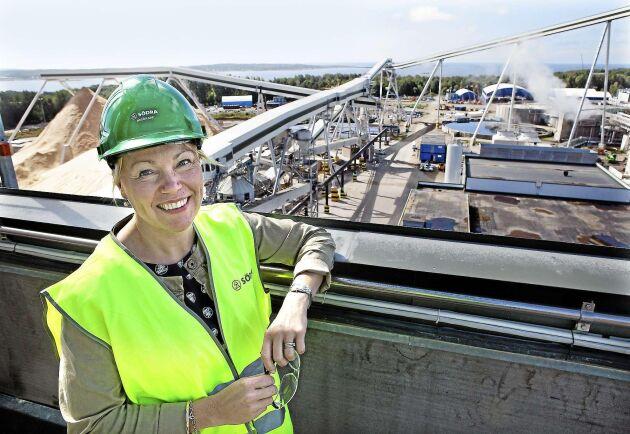 Utbyggnaden av Värö ser Gunilla Saltin som en av höjdpunkterna under hennes tid på Södra. Kapaciteten ökade från 425 000 till 700 000 ton massa per år, och vid invigningen 2016 var bruket världens största, modernaste och mest energieffektiva för barrsulfatmassa.