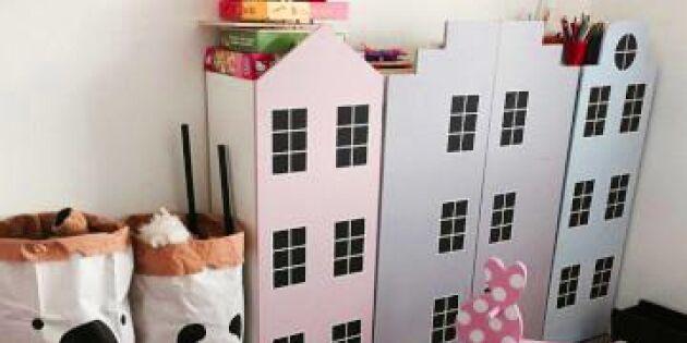 Hus som rymmer leksaker! Gör fin förvaring