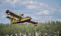 Brandflygplan lämnar Sverige för Grekland