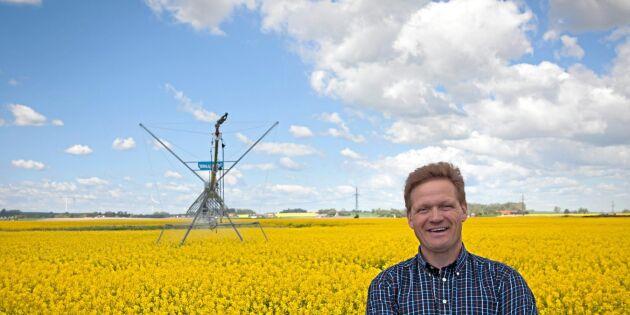 Han satsar på Sveriges största system