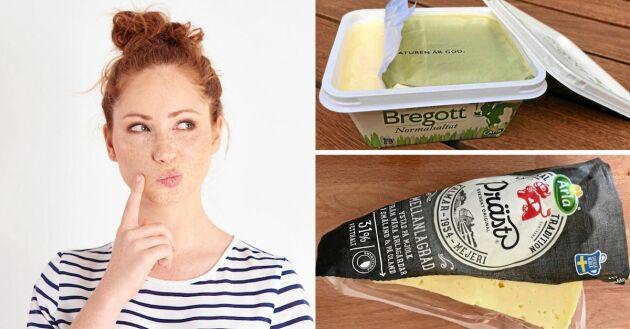 Hur gör man med förpackningarna för att smöret och osten ska hålla?