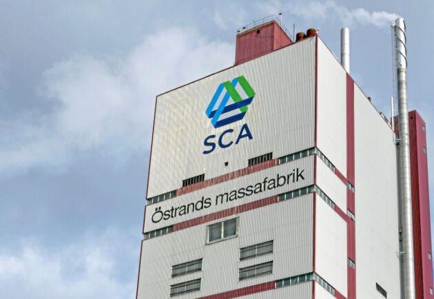 SCA var ett av bolagen som gick framåt på Stockholmsbörsen under torsdagen. Här syns bolagets massabruk i Östrand, Timrå.