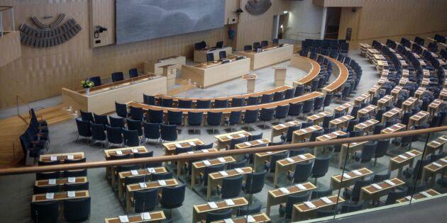 Jordbruksprofiler som åker ur riksdagen