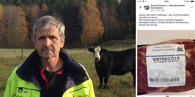 Fräcka tjuvar stal Gunnars kött
