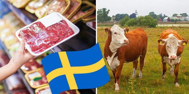 Undersökning: Viktigare för konsumenten att välja svenskt kött än äta vegetariskt