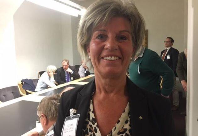 Margareta Malmquist, regionordförande för LRF Södermanland, säger intäkterna från jakt på vildsvin inte kan gå före lantbruket.