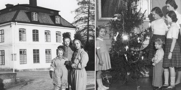 Strålande julfirande på Haga – när kungen var lillprins