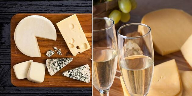 Champagne och hushållsost - oväntad men fantastisk kombination