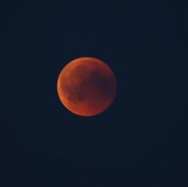 Anki Asplund i Jönköping kämpade mot dismolnen men lyckades till slut ta en serie fenomenala bilder på de olika faserna av månförmörkelsen!