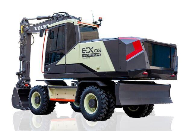 Volvo EX03 är en helt eldriven konceptgrävare i fjortotonsklassen.