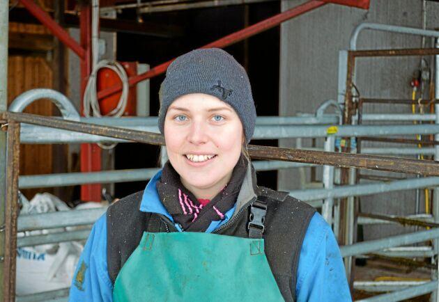 Emelie Danielsson har jobbat som klövvårdare sedan 2011.