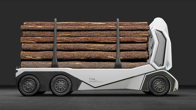 Einrides T-Log för timmertransporter har en lastkapacitet på 16 ton och kan köra 20 mil på en laddning. En operatör kan på avstånd koordinera flera timmerbilar samtidigt.
