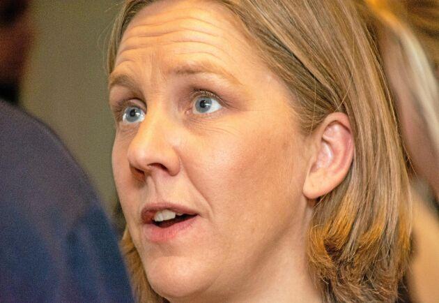Miljöministern Karolina Skog (MP) spår en framtid utan glyfosat.